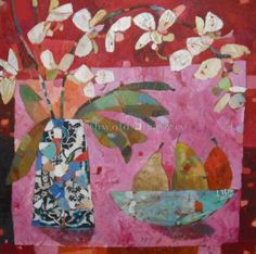 Orchid and three pears Sally Anne Fritter