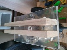 Router Dado Jig by Dwillems26 -- Homemade dado routing jig constructed from wood and plexiglass. http://www.homemadetools.net/homemade-router-dado-jig-5