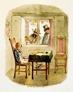 Oliver Twist dreams of Fagin and Monks: George Cruikshank's 1838 illustration
