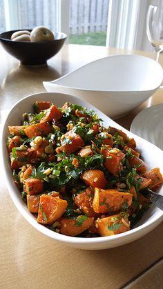 Herbs & Ginger Roasted Sweet Potatoes