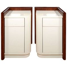 Pair of End Tables by Karl Springer, Late 1970s   From a unique collection of antique and modern end tables at https://www.1stdibs.com/furniture/tables/end-tables/