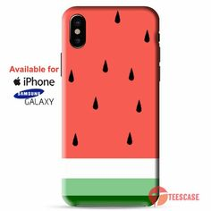 Watermelon Fruit Cute Pink and Green Funny Custom iPhone X Cases, iPhone Cases, Samsung Galaxy Cases, teescase 489 Hard Phone Cases, Phone Cases Samsung Galaxy, Samsung Galaxy Note 8, Iphone Cases, Refurbished Phones, Phone Deals, Cell Phone Plans, Cute Pink, Pink And Green