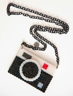 camera perler hama beads