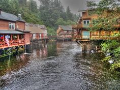 Creek Street - Ketchikan - Alaska Photograph by Bruce Friedman - Creek Street - Ketchikan - Alaska Fine Art Prints and Posters for Sale