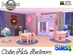 Cabin Kids bedroom by jomsims at TSR via Sims 4 Updates