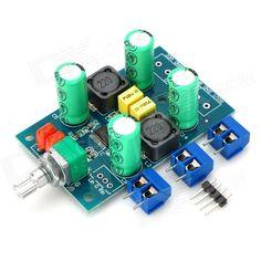 DIY Mini Digital 25W x 2 Power Amplifier Module Board w/ Terminals - Green + Blue (DC 10~25V)