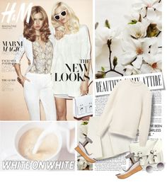 """""""White on White"""" by lacas ❤ liked on Polyvore"""