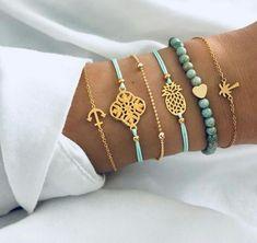 Pin on Ideas pulseras Cute Jewelry, Diy Jewelry, Jewelry Bracelets, Jewelry Accessories, Jewelry Design, Women Jewelry, Ankle Bracelets, Jewelry Ideas, Trendy Bracelets