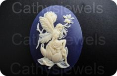 Meadow Fairy Portrait Cameo 40x30 by Cathysjewels on Etsy (Craft Supplies & Tools, Jewelry & Beading Supplies, Beads, cameo, cameos, unset cameo, loose cameos, bead, cabochon, fairy, fairies, faeries, sprite elf, jewelry supplies, cathysjewels, plastic)