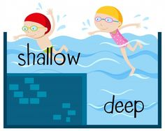 Opposite wordcard for shallow and deep Free Vector Learning English For Kids, Teaching English Grammar, English Lessons For Kids, Learn English Words, English Language Learning, English Vocabulary, English Reading, English Fun, English Study