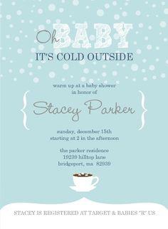 Winter Wonderland Baby Shower Invitations Stationary Inspiration