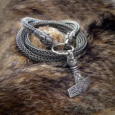 Viking Thor's Hammer with eagle's head. Mjolnir. Sterling от RuyaN