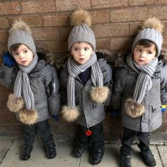 Triplet Babies, Baby Faces, Toddler Dolls, How To Have Twins, Twin Girls, Triplets, Cute Kids, Canada Goose Jackets, Advent