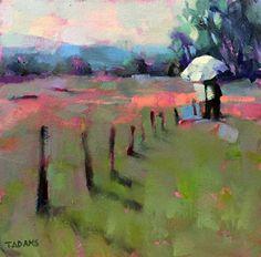 Painting with Nancy by Trisha Adams Oil ~ 12 x 12