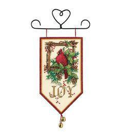Dimensions Banners Cardinal Joy Mini Counted Cross Stitch Kit-10'' Long