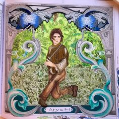 Arya From The New Game Of Thrones Book Got Aryastark Gameofthrones Gameofthronescoloringbook