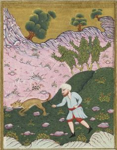 Bibliothèque nationale de France,  Supplément turc 1063, detail of f. 17v (harvesting mandrakes) [cosechando mandrágoras]. al-Qazwini, 'Aja'ib al-makhluqat wa-ghara'ib al-mawjudat (Marvels of Creatures and Strange Things Existing). Istanbul, 1685.    They look like Ents.