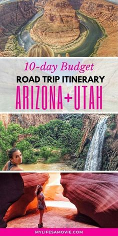 This is the ultimate bucket list for an amazing budget road trip adventures in Arizona and Utah. Visit the majestic Grand Canyon, Antelope Canyon, Hor. , 10 Best Stops for an Arizona Utah Road Trip, Arizona Road Trip, Road Trip Usa, Arizona Travel, Best Road Trips, Arizona Usa, Vacation Ideas, Utah Vacation, Vacation Trips, Vacation Travel