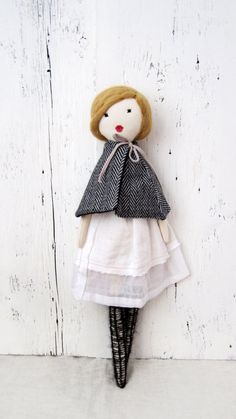 Cloth doll Rag doll handmade retro one of a by lespetitesmainsS,