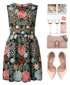 """Girls' Trip: Wine Tasting "" by fashiondiaryy ❤ liked on Polyvore featuring RED Valentino, ALDO, Gucci, LSA International, Polaroid and Rebecca Minkoff"