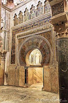Great Mosque of Cordoba, Spain. Interior