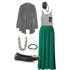 long, green maxi skirt + drapey, gray cardigan with no earrings so apostolic fashion :) Apostolic Fashion, Modest Fashion, Apostolic Pentecostal, Apostolic Clothing, Modest Outfits, Cute Outfits, Beach Outfits, Summer Outfits, Casual Outfits