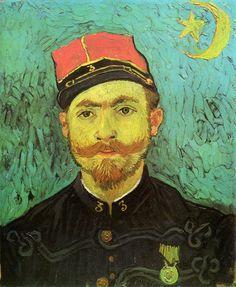 Vincent van Gogh - Portrait of Milliet, Second Lieutnant of the Zouaves, 1888