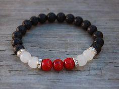 Ónice negro natural Pulsera de hombre megberry ® Perlas de obsidiana de plata esterlina 925