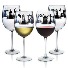 Graveyard wine glasses.  These can be purchased on Amazon.