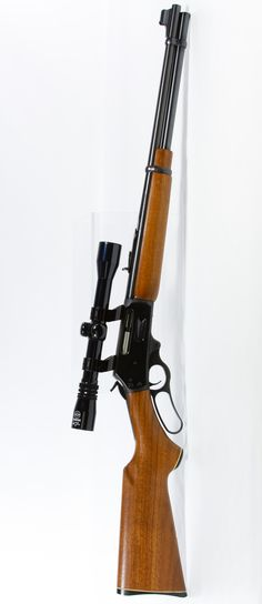 Lot Marlin Model Rifle with Scope (Serial Side load lever action rifle; together with Simmons scope and soft case Weapons Guns, Guns And Ammo, Marlin Lever Action Rifles, Shooting Guns, Fire Powers, Military Guns, Hunting Rifles, Cool Guns, Firearms