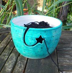 Yarn bowl. i wanna make this!                                                                                                                                                                                 More