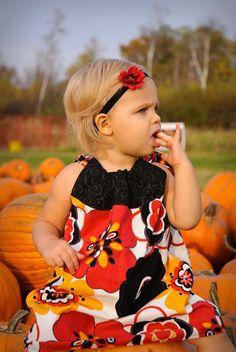 ADORABLE pumpkin patch pillow dress