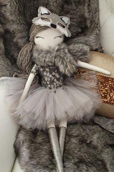 Lupa, Liberty of the Wolf, Wild Rose dolls. Liberty of London. #WildRosedolls #Heirloom #cloth #fabric #doll #decor #nursery #kids #handmade