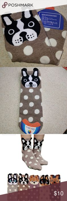 🐕NEW🐾 Cute puppy theme socks. Made of combed cotton & spandex. Fits women's size 5-10. Accessories Hosiery & Socks