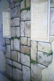 Faux stone wall painting ideas