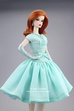 vintage dress for Silkstone fashion doll by SL Doll Fashion
