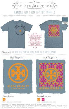 tory burch inspired   |   adpi tshirt