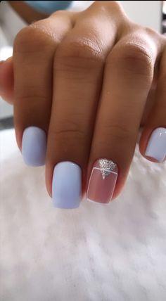 Pink Nails, Gel Nails, Romantic Nails, Nail Designs, Nail Art, Beauty, Finger Nails, Toenails Painted, Sculpted Nails