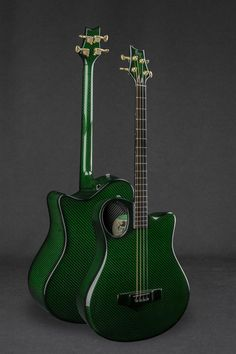 This is an Emerald Custom Shop tenor guitar made out of carbon fibre by Alistair Hay and his team at Emerald Guitars in Donegal, Ireland. Guitar Chords, Ukulele, Small Guitar, Ms Gs, Musical Instruments, Guitars, Emerald, Green, Music Instruments