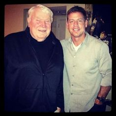 John Madden with Troy Aikman