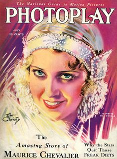 Jeanette Macdonald portrait on the cover of this July, 1930 issue is by artist Earl Christy