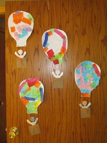 today we started about things in the sky birds, airplanes, helicopters, kites, hot air balloons, and my kiddos even said garbage on ...