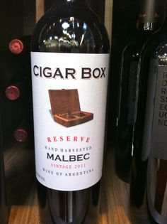 Cigar Box Malbec - one of my favorites