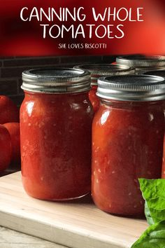 Canning Raw Pack Whole Tomatoes... so easy to make and so convenient to have. A step by step tutorial on how to can whole tomatoes. #cannedtomatoes #canning #howtocantomatoes