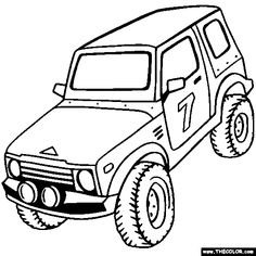 Free by Off-Road Baja 1000 Truck Vehicle Coloring Pages. Color in this picture of a truck and others with our library of online coloring pages. Truck Coloring Pages, Online Coloring Pages, Free Coloring Pages, Sonic Dash, 4x4 Trucks, Kids Online, Offroad, Monster Trucks, Projects To Try