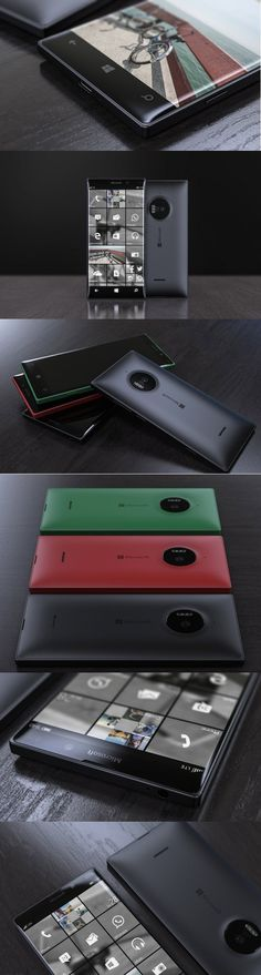 Based on rumors and speculation floating around about much anticipated 940 and Lumia 940 XL, Jonas Daehnert's vision for the smartphone is a softer alternative to the original square designs with curved, cushion-like front and back sides. Technology Design, Technology Gadgets, Id Design, Detail Design, Concept Phones, Template Web, Industrial Design Sketch, Presentation Layout, Yanko Design