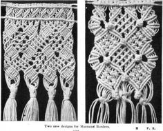 Macrame borders from The Home Art Book of Fancy Stitchery by Flora Klickmann