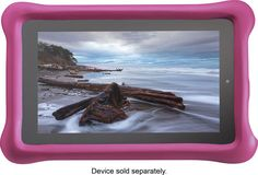 """Amazon - FreeTime Kid-Proof Case for Amazon Fire 7"""" Tablets - Pink"""