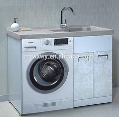 Meuble lavabo avec machine à laver de blanchisserie blanchisserie évier armoire combo bac à lessive avec armoire-image-Meuble-lavabo de salle de bain-Id du produit:60114488269-french.alibaba.com