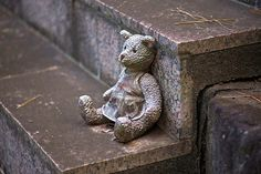 I will wait for you.............. Teddy Bear On Stairs by aeschylus18917 on Flickr